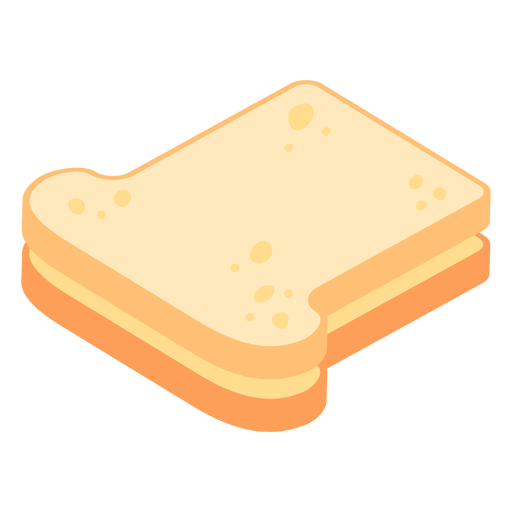 Bread toast flat