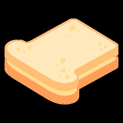 Pan tostado plano