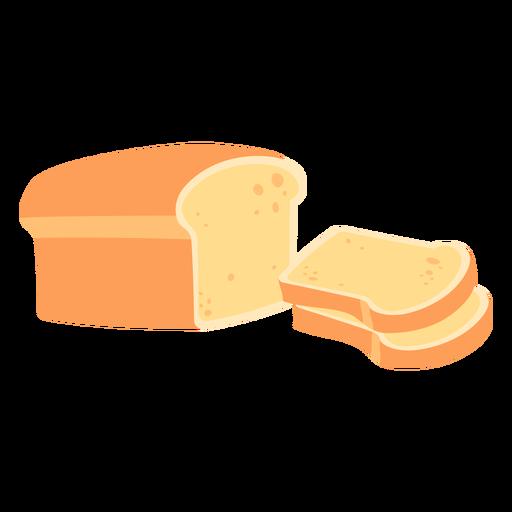Bread white bread flat