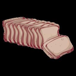 Bread whole grain bread icon