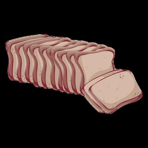 Icono de pan de pan integral