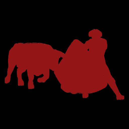Corrida de toros cargando silueta de toro