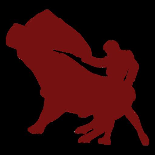Silueta de toro levantado patas delanteras de toros