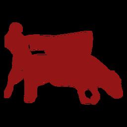 Bullfight passed bull silhouette