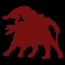Corrida de toros toro silueta