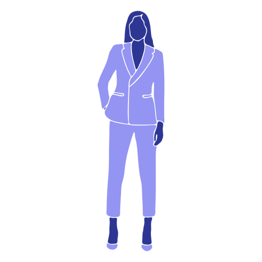 Business woman standing front hand in pocket Transparent PNG