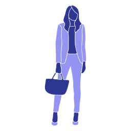 Business woman standing front looking straight