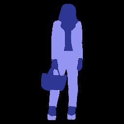 Mujer de negocios de pie mirando hacia delante