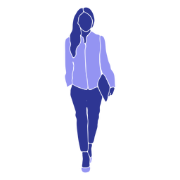 Mujer de negocios ambulante proceso de llevar archivo