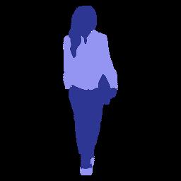 Mulher de negócios caminhando carregando arquivo
