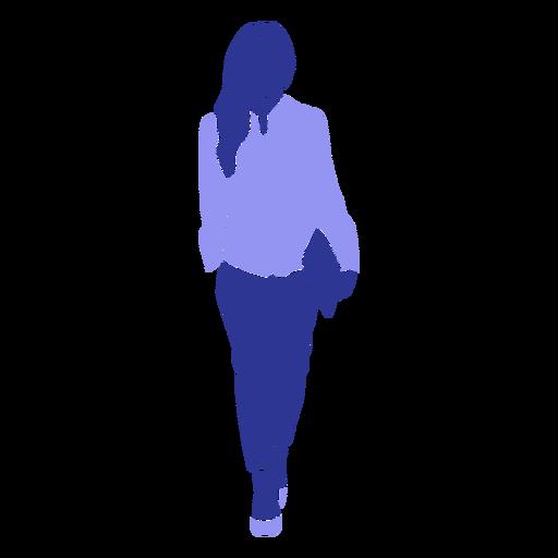Business woman walking carrying file