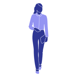 Geschäftsfrau, die vorne geht