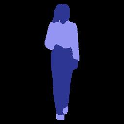 Mujer de negocios ambulante frente