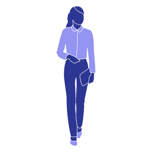 Business woman walking front