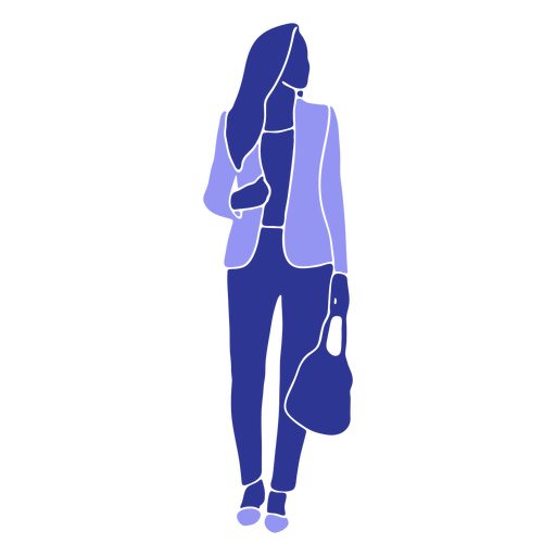 Business woman walking front looking left