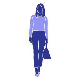 Business woman walking front looking straight