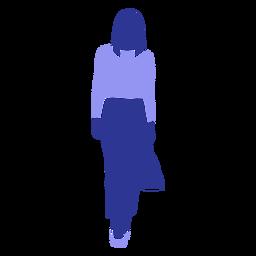 Mulher de negócios andando frente olhando direto