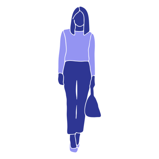 Business woman walking front looking straight Transparent PNG