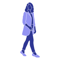 Business woman walking right facing