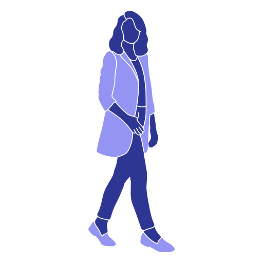 Business woman walking right facing Transparent PNG