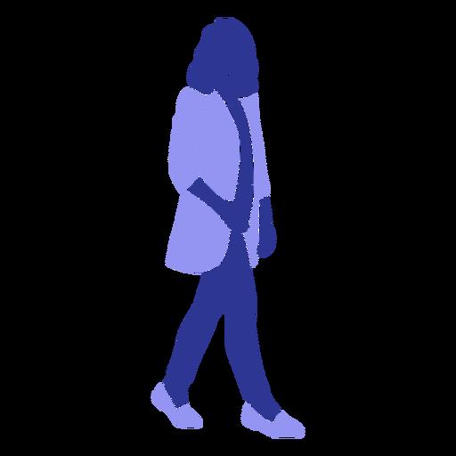Business woman walking right facing