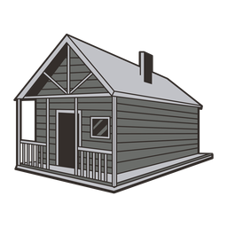 Cabin house illustration
