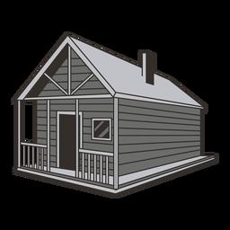 Ilustração de casa de cabine