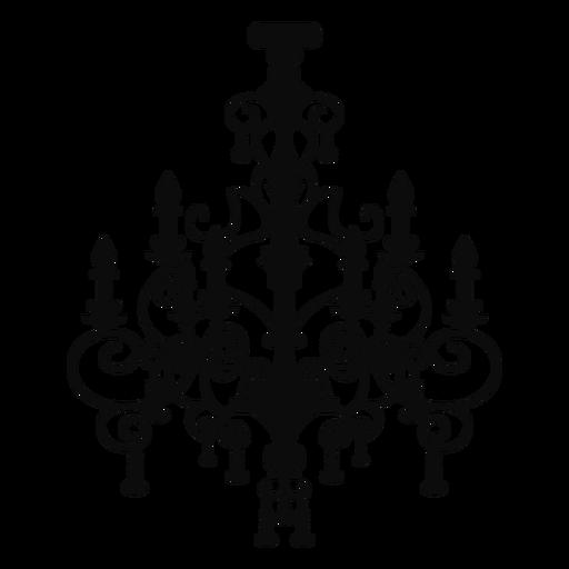 Candelabro complejo candelabro de dos filas
