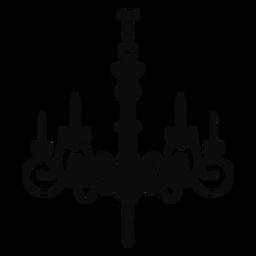 Lustre simples quatro velas