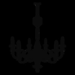 Lustre simples seis velas