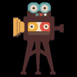 Dibujado a mano cámara de cine de cine