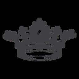 Icono artístico de diseño de corona