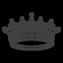 Ícone de cruz superior artístico do desenho da coroa