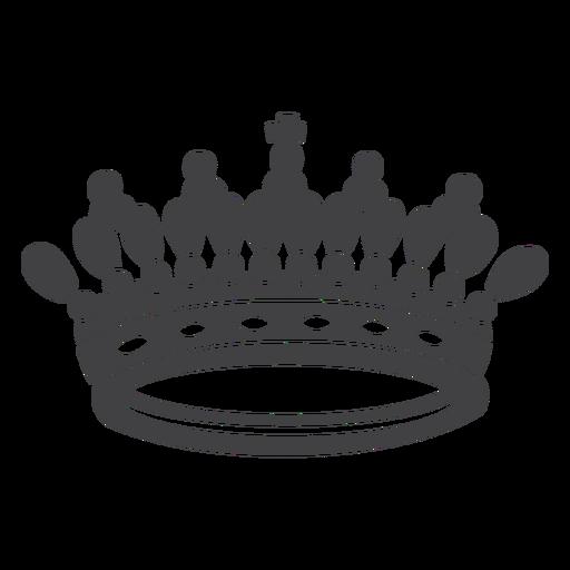 Corona diseño artístico icono de cruz superior
