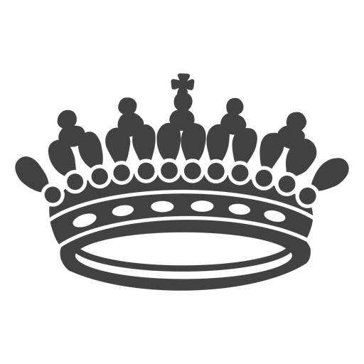 Crown design artistic top cross icon Transparent PNG