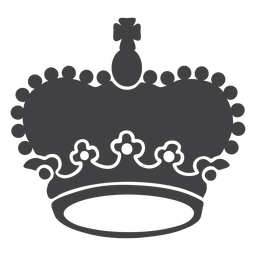 Crown design large top cross icon
