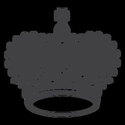 Diseño de corona icono de cruz superior grande