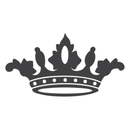Crown design simple icon