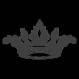Ícone simples de desenho de coroa