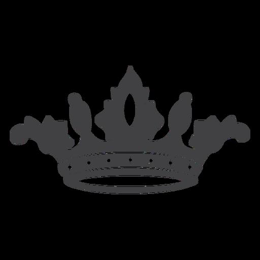 Corona diseño simple icono