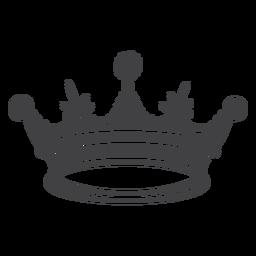 Icono de cuatro picos de diseño de corona simple