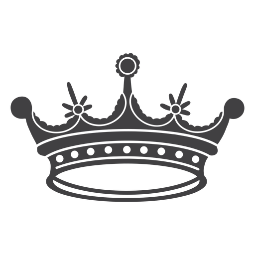 Crown design simple four spikes icon Transparent PNG
