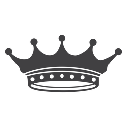 Crown design simple spikes lesser icon