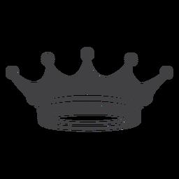 Kronenentwurf einfache Spitzen weniger Symbol