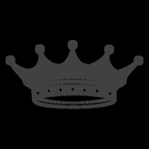 Corona diseño simple picos icono menor