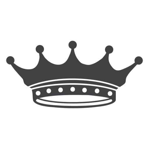 Crown design simple spikes lesser icon Transparent PNG