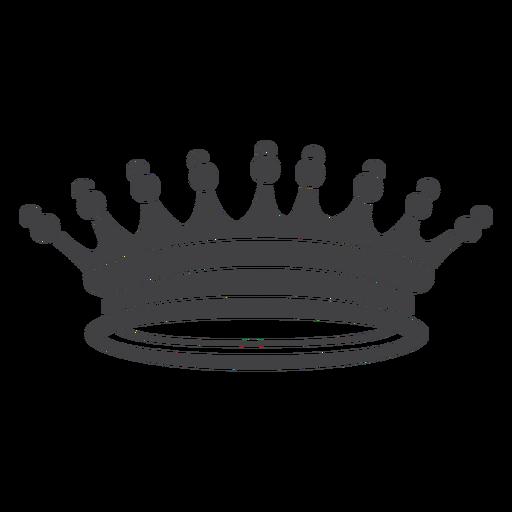 Corona diseño picos simples más icono