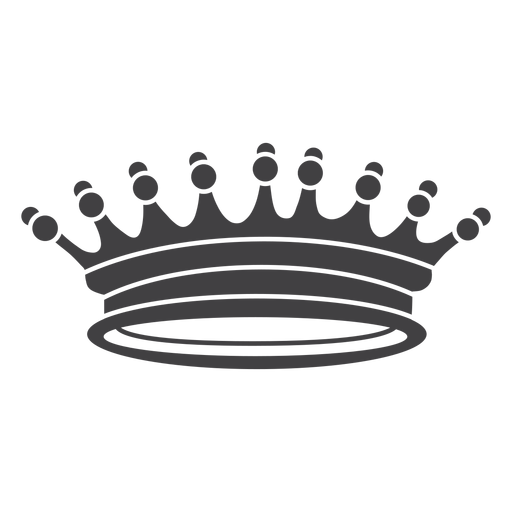 Crown design simple spikes more icon