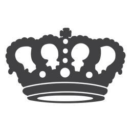 Crown design simple top cross icon