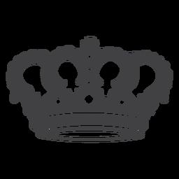 Diseño de corona simple icono de cruz superior